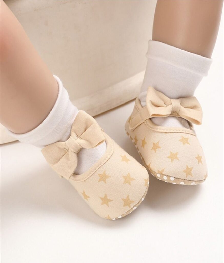 kiskissing wholesale Baby Girl Love Heart Star Bow Shoes